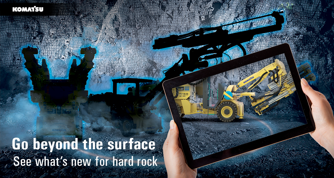 Komatsu - Go beyond the surface. See what's new for hard rock.
